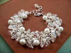 Flower Charm Bracelet White Wedding Bridal Bouquet by justCHARMING, $30.00  https://www.etsy.com/listing/15685033/flower-charm-bracelet-white-wedding