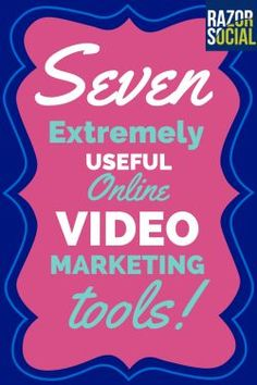 If you are interested in online video marketing we have 7 fantastic tools that will help you get started, check them out! >>> Continue with the details at the image link. #VideoMarketingTips