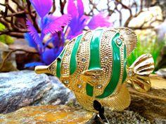 Tropical Fish Badge Reel  Retractable Badge by BadgeAlleybyGerAnne