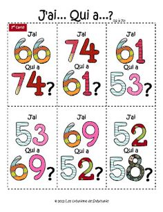 : 2 autres versions (Do this with french) Frenglish :) The kids would love it! French Teaching Resources, Teaching French, School Resources, French Numbers, French Education, Core French, French Classroom, French Teacher, Ways Of Learning