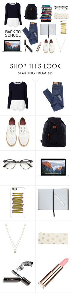 """Back to school"" by lostandfound92 ❤ liked on Polyvore featuring Witchery, Cheap Monday, Grenson, Bric's, ZeroUV, 7 For All Mankind, Casetify, Smythson, LC Lauren Conrad and Bobbi Brown Cosmetics"