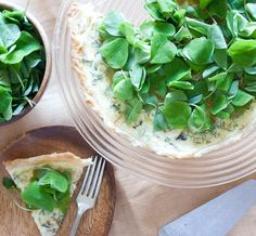 Spring Quiche with Leeks and Sorrel by thekitchn #Quiche #Leeks #Sorrel #thekitchn