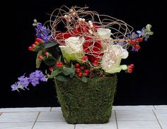 Independence Day Flower Arrangements from Rittners Floral School, Boston, Ma.  www.floralschool.com