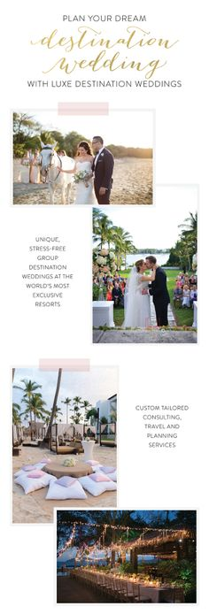 It would be silly not to hire LUXE Destination Weddings!  http://www.stylemepretty.com/2016/09/13/how-to-plan-a-stress-free-totally-dreamy-destination-wedding/  #sponsored