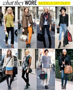 Fairly casual but trendy clothes in general: fashion conscious, reflective of figure, but unique, individual and comfortable