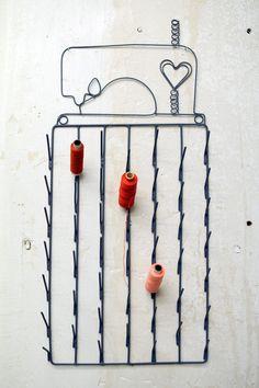 Nähkörbe & -kästchen - Vintage Garnrollenhalter groß - ein Designerstück von HerrPfeffer bei DaWanda