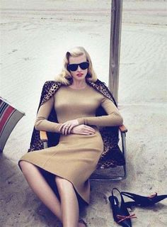 Mad Men-Inspired Fashions - The Gorgeous Lara Stone by Mert & Marcus Vogue US September 2010 Spread (GALLERY)