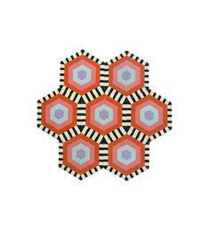 Honeycomb Style: Swizzle Quantity: 7Hexagons Measures: 7'9'' w x 7'6'' h Cost: $3,150 USD
