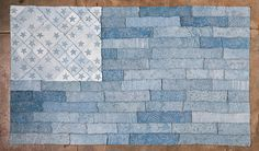 Indigo Flag Quilt #alabamachanin