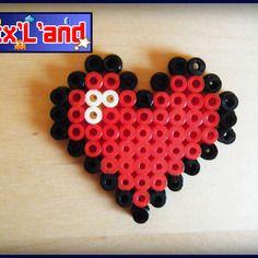 Coeur effectué en perles hama midi
