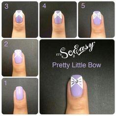 DIY Nails Art: Bow DIY Nails Art