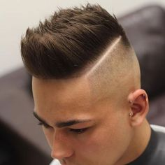 Undercut Fade with Hard Part and Textured Spikes