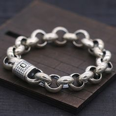 Gold Chains For Men Men's Sterling Silver Bold Rolo Chain Bracelet - Silver Bracelets, Bracelets For Men, Fashion Bracelets, Silver Earrings, Silver Ring, Bracelet Men, 925 Silver, Earrings Uk, Fashion Jewelry