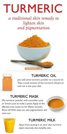 Tumeric - A natural remedy for skin pigmentation