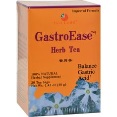 Health King GastroEase Herb Tea - 20 Tea Bags - Health King GastroEase Herb Tea Description: 100% Natural Fortify the Stomach, Regulate Acidity GastroEase Herb Tea is a unique popular beverage in China made of dark roasted wild millet and astragalus grown in northeast China. It provides vitamins A,B,C and carbohydrates. As a food supplement it is extensively used in Chinese medicine to fortify the digestive system, remove food stagnation and accumulation, regulate acidity, etc. It may help…