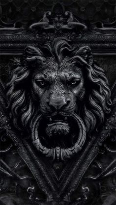 black lion door knocker / color inspiration / black and white / monochromatic / texture / pattern / nature / art / Lion Door Knocker, Door Knockers, Door Knobs, Door Handles, Lion Noir, Black Lion, Monochrom, Shades Of Black, Narnia
