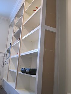 Built in bookcases with bookcases from Ikea