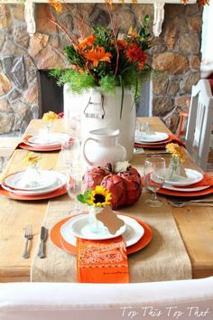 Fall Tablescape Tour - Duke Manor Farm