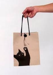 Who doesn't like a cute kitty cat bag packaging : ) Cat Crafts, Sewing Crafts, Sewing Projects, Bag Packaging, Packaging Design, Shopping Bag Design, Paper Bag Design, Sacs Design, Cat Bag