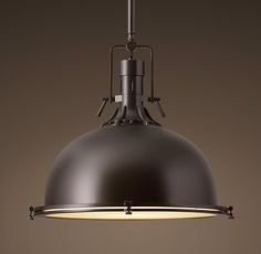 HARMON PENDANT - DARK BRASS NATURAL $399 - $549 Mult colors and sizes / can be angled