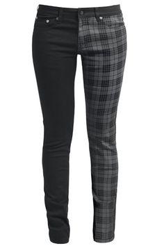 Tartan and black skinny jeans