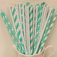 Adorable paper straws
