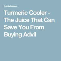 Turmeric Cooler - The Juice That Can Save You From Buying Advil