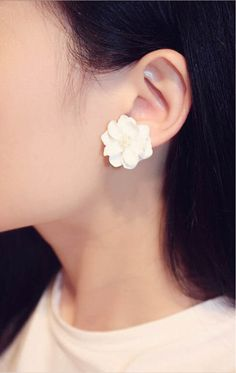 New Fashion Big White Flower Earrings For Women //Price: $9.99 & FREE Shipping //     #kitchen #simpleby