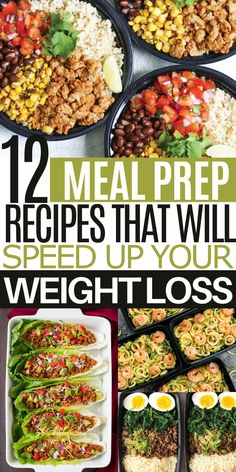 These delicious meal prep lunch ideas for weight loss will help you diet without feeling restricted. They're also pretty easy to make! Lunch Meal Prep, Healthy Meal Prep, Healthy Eating, Healthy Recipes, Healthy Food, Healthy Zucchini, Dinner Healthy, Raw Food, Healthy Cooking