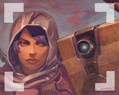 Borderlands: The Pre-Sequel! - Athena and Claptrap