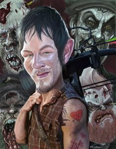 Daryl Dixon, The Walking Dead by richconleyart