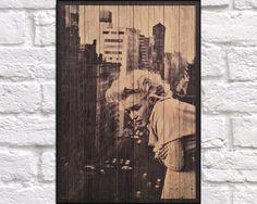 WOOD PHOTOGRAPH print Wood wall art Hollywood Icon by Woodprintz