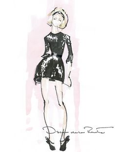 Oscar de la Renta studio sketch, Fall 2012.