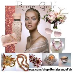 Rose Gold by renaissance-fair on Polyvore featuring Topshop and Aspinal of London