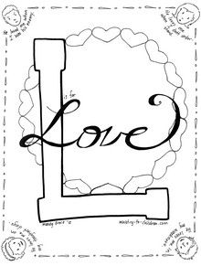 The next sheet in our free Bible Alphabet coloring book is all about God's love. The four children on this page each have a caption that describes the greatness of Christ's love: ...