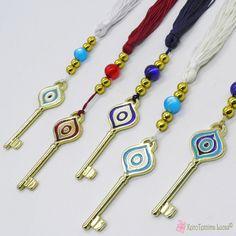 Κλειδί γούρι μάτι σε πολλά χρώματα Tassel Necklace, Personalized Items, Jewelry, Jewlery, Jewerly, Schmuck, Jewels, Jewelery, Fine Jewelry