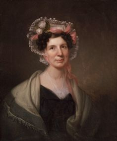 """Rembrandt Peale, """"Mrs. Stennett"""", ca. 1835, Oil on canvas."""