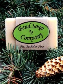 Love the pine forest? Mt. Bachelor Pine - Natural Goat Milk Soap scented with patchouli and pine fragrances. | www.bendsoap.com