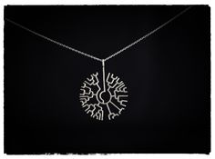 Phylogenetic Tree Pendant 3d printed Necklaces Pendants phylogenetic tree pendant in premium silver