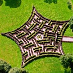 Garden maze at Scone Palace in Scotland