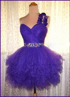 Sexy Homecoming Dresses 2016 Short Ball Gown One-shoulder Sweetheart Mini Beading Tulle Cocktail Dress Dark Purple Vestido Curto