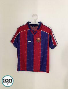 BARCELONA FC 1992 95 Home Football Shirt (YM 14) Soccer Jersey KAPPA Vintage 689aa23688df0