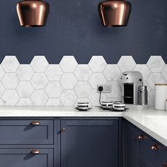 Hexagon HD Laurel Multi Use Tile 17.5 x 20.2cm | Hex | British Ceramic Tile | Shop By Brand | Tiles and Bathrooms Online