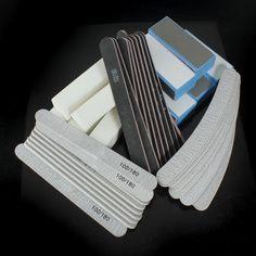 40 PCS Nail Art Sanding Block Manicure Tools UV Gel Set