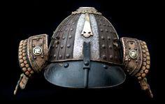 KABUTO, Helmet  19th Century  Japan - Mid-Late Edo period  Iron, silver, copper, fabric