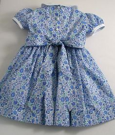 Liberty Blue D'Anjo Baby Dress