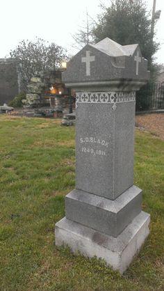 Samuel Black 1st Virginia Cavalry Co.D CSA buried Saint Anne's Catholic church, Bristol Va.