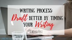 Staying motivated to write can be a struggle when you're in the thick of the drafting process. See how writing on the clock helps me write a better draft!