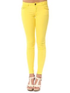 Papaya Clothing Online :: BEADED BUTTON COLOR PANTS
