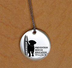 Island Dog Logo Necklace -- proceeds benefit homeless dogs